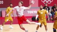 Mathias Gidsel en observación por un golpe en la cabeza