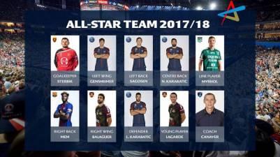 Arpad Sterbik y David Balaguer en el All Star de la Champions League 17/18