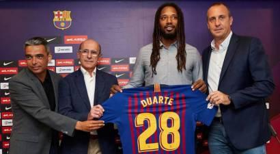Gilberto Duarte presentado como nuevo jugador del Barcelona Lassa