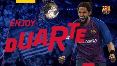El Barcelona hace oficial el fichaje de Gilberto Duarte por una temporada