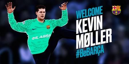 El Barcelona hace oficial el fichaje de Kevin Moller hasta 2021