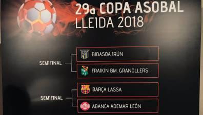 Bidasoa - Granollers y Barcelona - Ademar duelos de la Copa Asobal 2018