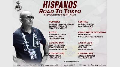 Ribera convoca a 20 jugadores para la preparación de los JJOO de Tokio
